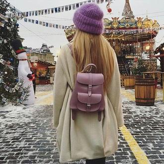 bag pink sweet cute backpack purple