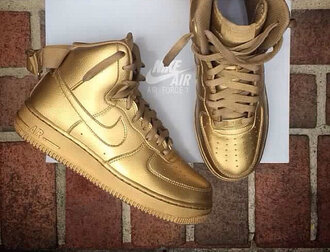 nike sneakers gold shoes nike air force justin bieber