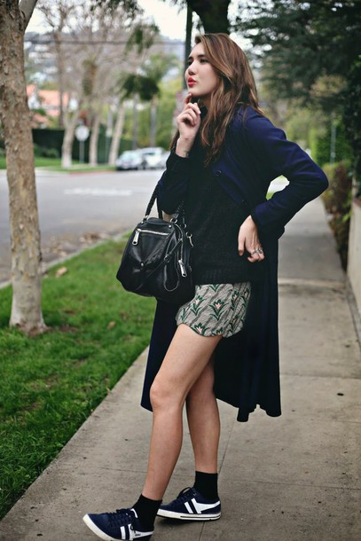 color me nana blogger coat sweater skirt shoes bag