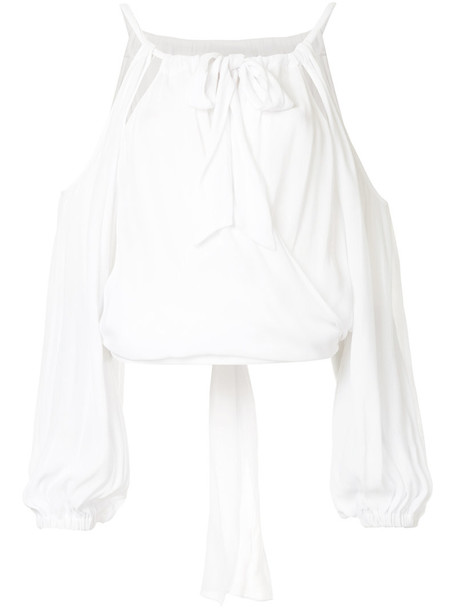 Manning Cartell blouse women cold white top