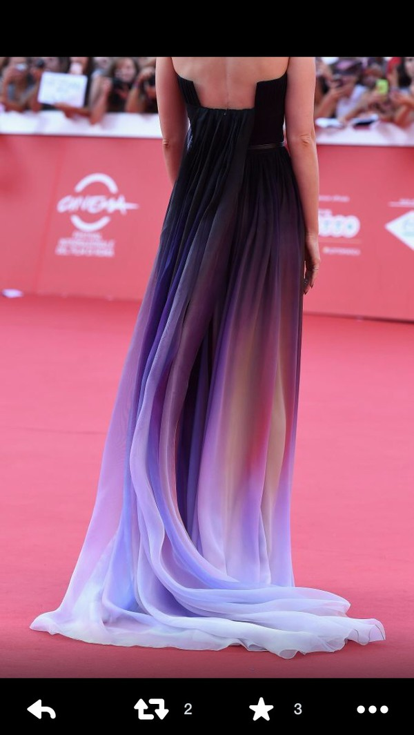 lilly collins purple dress ombre dress ombre prom dress homecoming dress homecoming dress formal dress floor length dress long prom dress long dress sleeveless dress