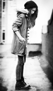 grunge,black and white,coat,stripes,alternative,comfy,comfy tops,jacket,green jacket,green,dark,light,fur,hood,military style,cute,long,pretty,street,sweater,jumper,red,black,long prom dress