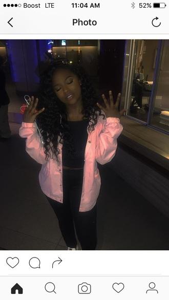 jacket windbreaker pink jacket