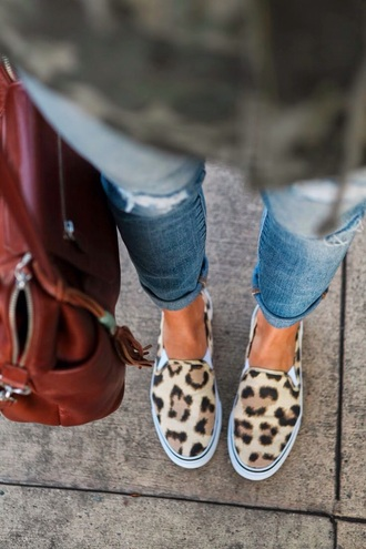shoes red bag jeans cheetah print shoes bag