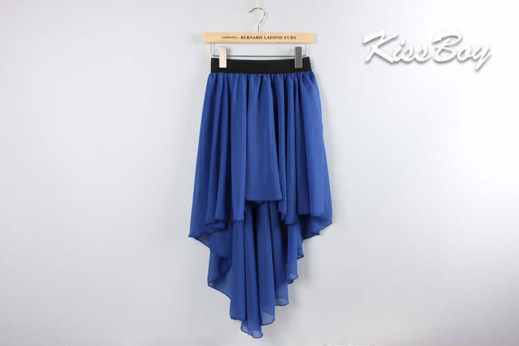 Free Shipping Women Fashion Sexy Elegant Asymmetric Chiffon Long Maxi Skirt Chiffon Skirts Elastic Waist Hot Sale-in Skirts from Apparel & Accessories on Aliexpress.com
