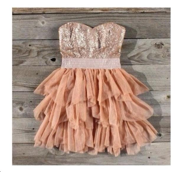 dress prom dress pink dress glitter dress cute dress