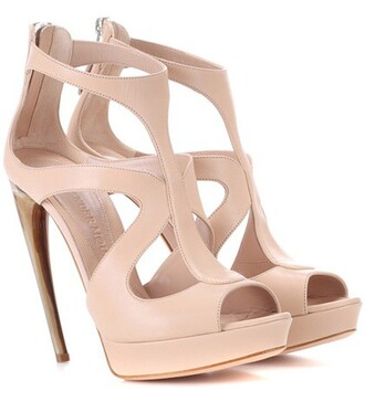 heel sandals leather sandals leather pink shoes