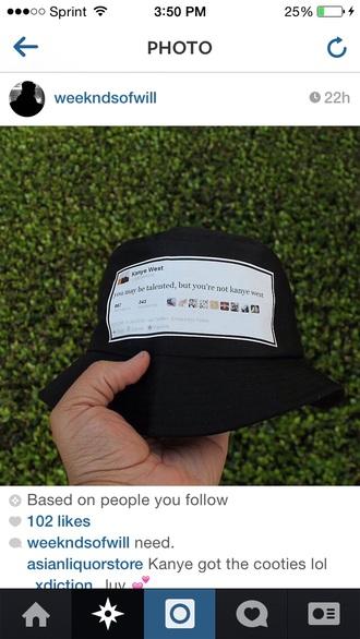 kanye west twitter bucket hat kanye west