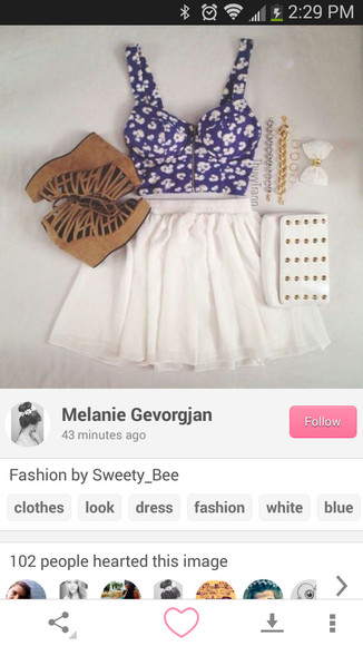 wedges blouse croptops floral tank top spring skater skirt wallets gold chains