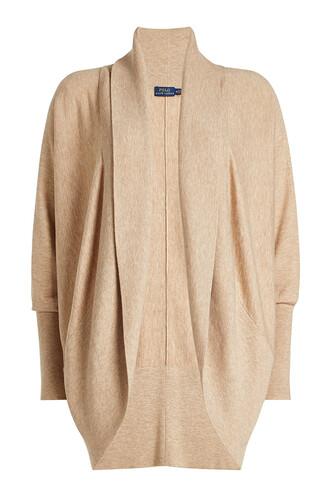 cardigan wool knit beige sweater
