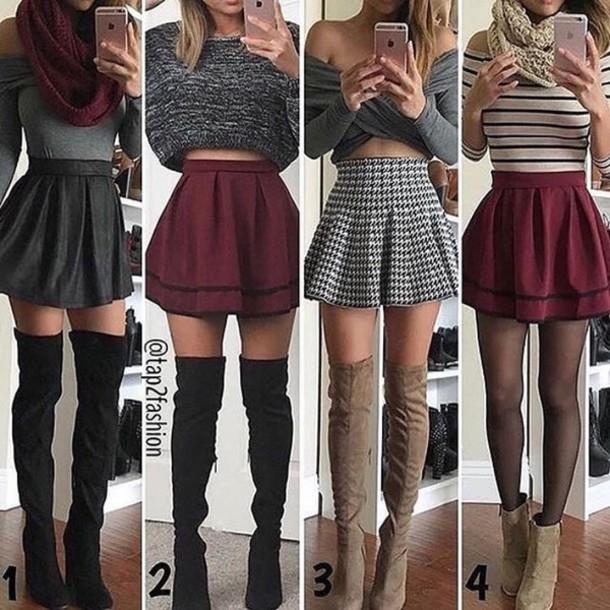 skirt tumblr tumblr outfit kawaii cute skater skirt