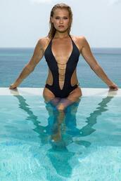 swimwear,black,cheeky,luxury,monokini,one piece,womens sauvage,bikiniluxe,black dress,napoliblack