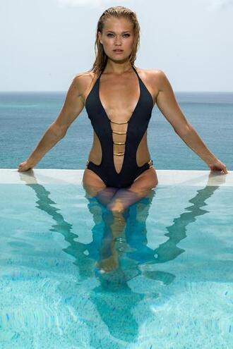 swimwear black cheeky luxury monokini one piece womens sauvage bikiniluxe