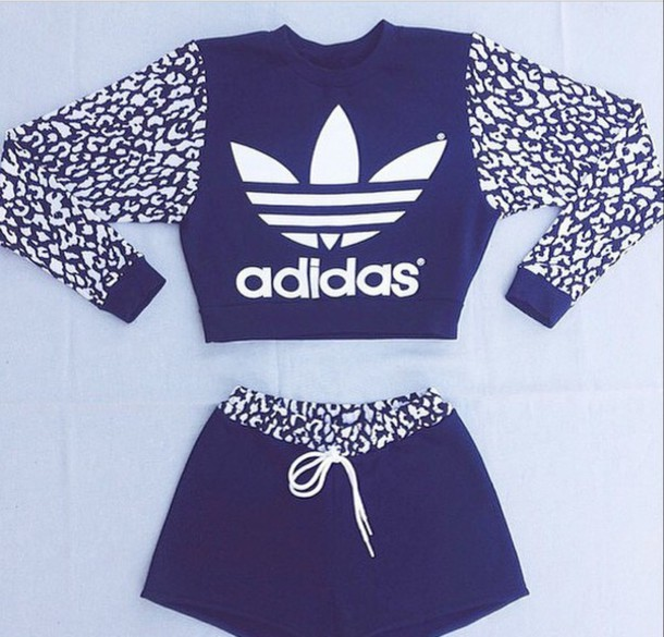 cardigan fitness adidas pants sportswear shorts jumper sweater top short short shorts leopard print navy blue white blue and white