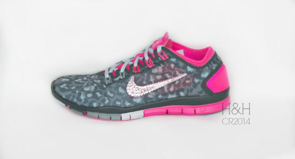nike gray and pink cheetah
