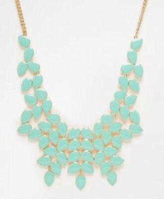 jewels necklace statement necklace pastel pastel blue light blue aqua