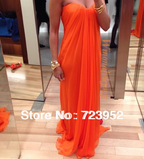Aliexpress.com : buy high quality 2013 popular sweetheart plus size orange colored chiffon draped prom gowns evening party dresses from reliable dress 0 suppliers on suzhou aee wedding dress co. , ltd
