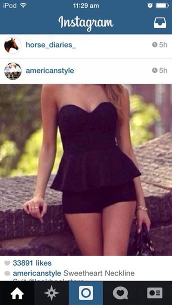 dress cute black sexy short dress playsuit 2014 black sexy cute