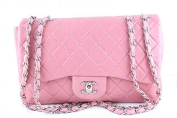 Chanel: Chanel Pink Jumbo Quilted Classic 2.55 Flap Bag | MALLERIES