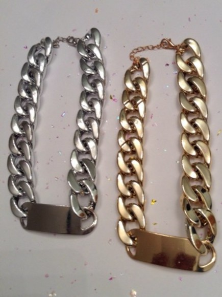 fashion instagram instagramfashion twitter facebook jewels gold silver necklace chains gold chains id necklace swagg stylish tumblr jewelry fashion jewelry silver chain silver choker gold choker choker gold jewelry silver jewelry