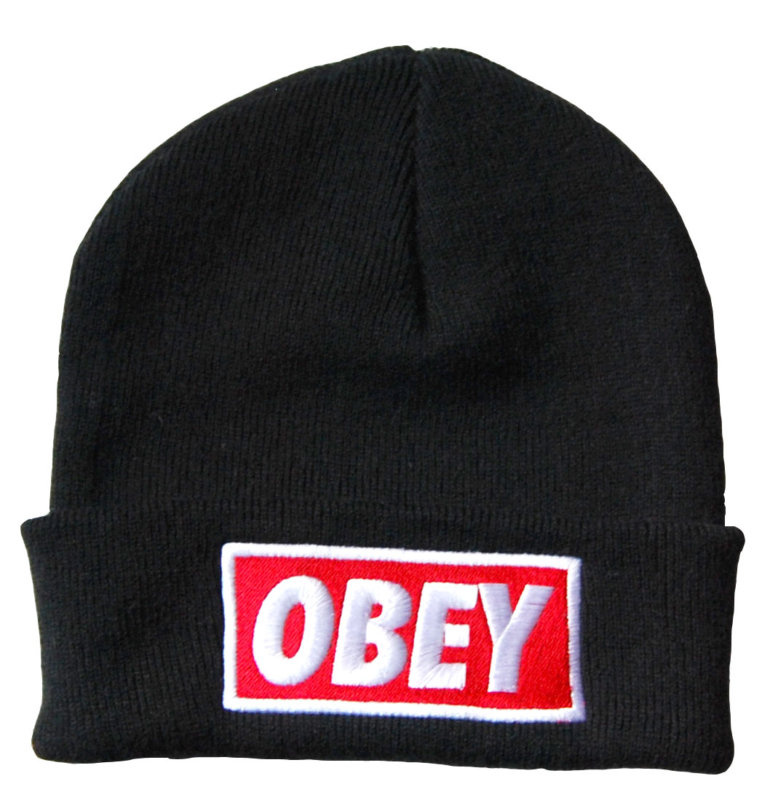 Supply Black Obey Standard Issue Beanie 45-70% Off