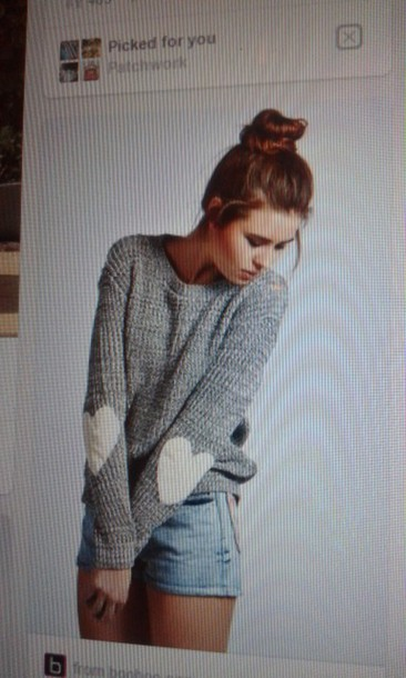 sweater elbow patches heart