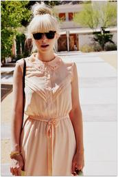 fancy tree house,vintage,pink dress,brown dress,dress