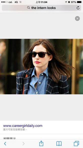 jacket blazer plaid anne hathaway
