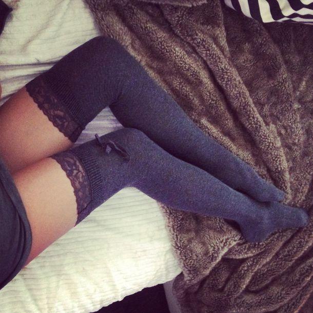 Sexy knee socks fetish