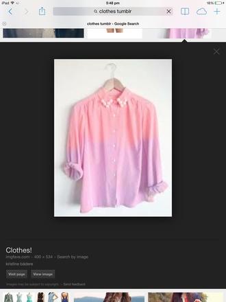 blouse purple pink