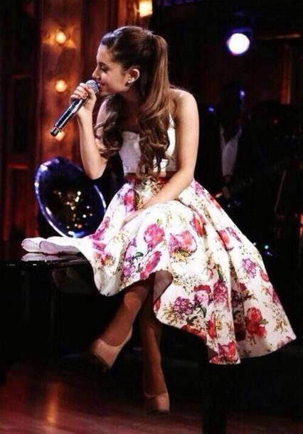 Tea Length Dress Arianna Grande