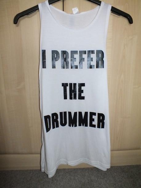 Shirt H&m i Prefer The Drummer