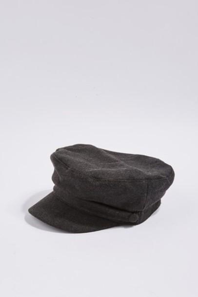 Topshop hat charcoal