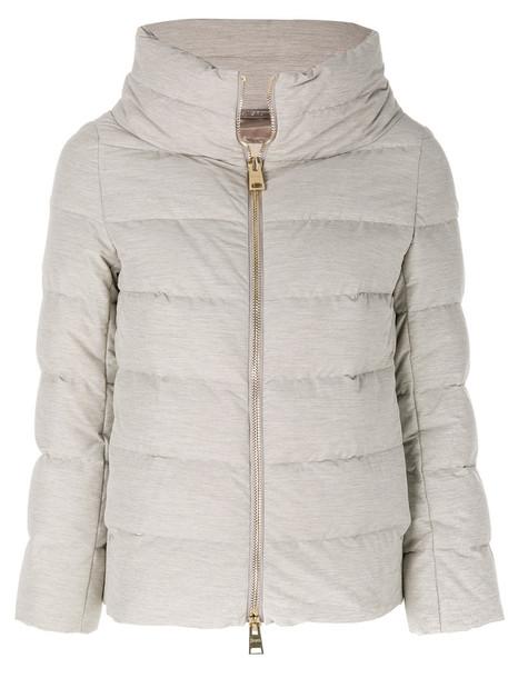 jacket high women spandex grey
