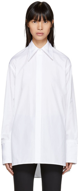 Helmut Lang shirt cut-out white top