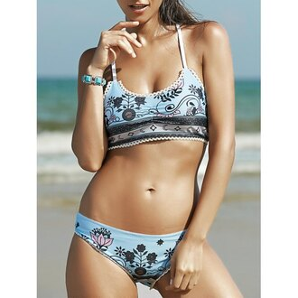 swimwear rose wholesale sexy bikini fashion boho style chic summer cute tribal pattern