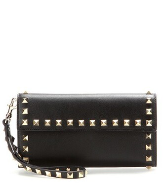 leather clutch clutch leather black bag