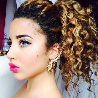 jewels jadah doll earrings statement earrings party make up eye makeup hairstyles curly hair