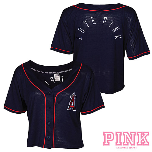 Los Angeles Angels of Anaheim Victoria's Secret PINK® Crop Baseball Jersey - MLB.com Shop