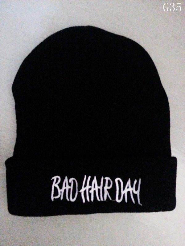 Bad Hair Day Black Hat Hip Hop Hats Unisex Youth Cool Beanie Knited Cool Cap G35 | eBay