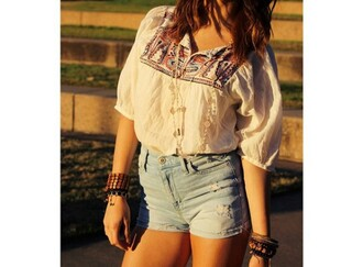 shirt boho cute girly