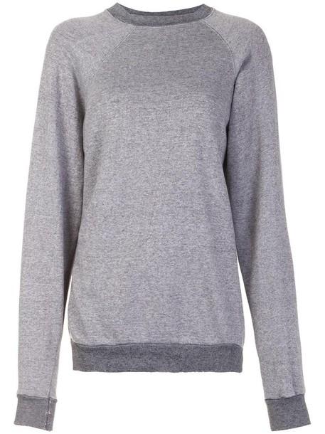 sweatshirt loose vintage women fit cotton grey sweater
