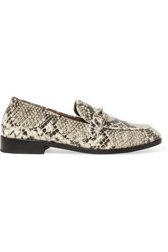 snake loafers leather print snake print shoes