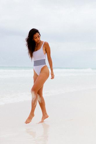 swimwear tumblr one piece swimsuit stripes holidays