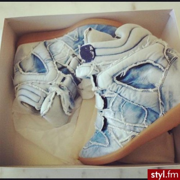 shoes sneakers isabel marant denim