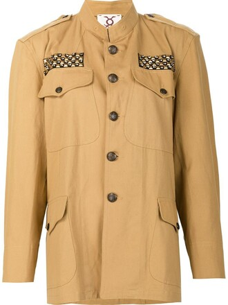 jacket women peace nude cotton