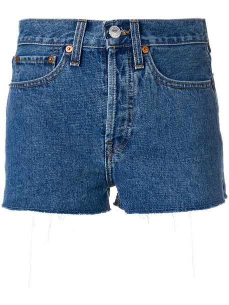 Re/Done shorts women cotton blue