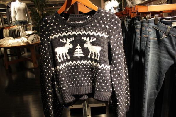 sweater black christmas sweater