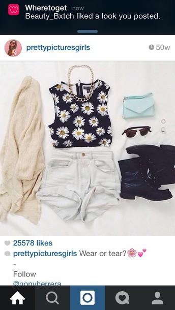 shirt daisy top