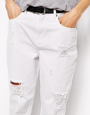 Selected   Selected Vinna Boyfriend Jeans with Rips at ASOS